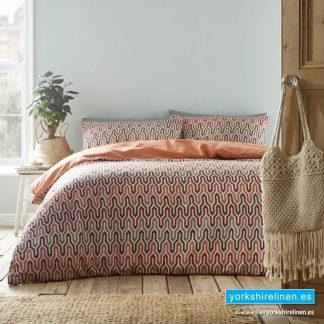 Riley Terracotta Duvet Cover Set - Yorkshire Linen Warehouse Mijas Prestige Marbella