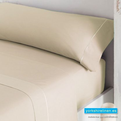 Luxury 300 Thread Count Sateen Fitted Sheets Beige