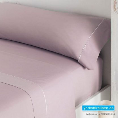 Luxury 300 Thread Count Sateen Flat Sheets Mulberry 2