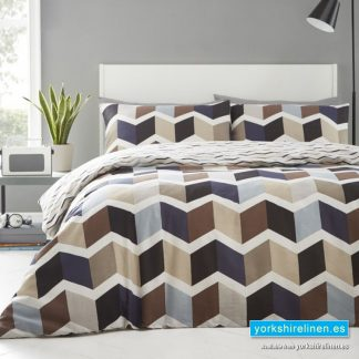 ZigZag Natural Duvet Cover Set - Yorkshire Linen Warehouse Mijas Marbella