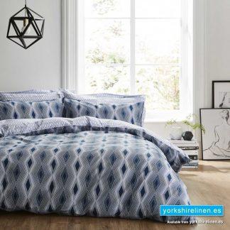 Bianca Cotton Soft Ziggurat Duvet Cover Set - Yorkshire Linen Warehouse Mijas Marbella