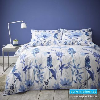 Catherine Lansfield Fox and Brooke Hedgerow Blue Duvet Cover Set - Yorkshire Linen Warehouse Mijas Marbella