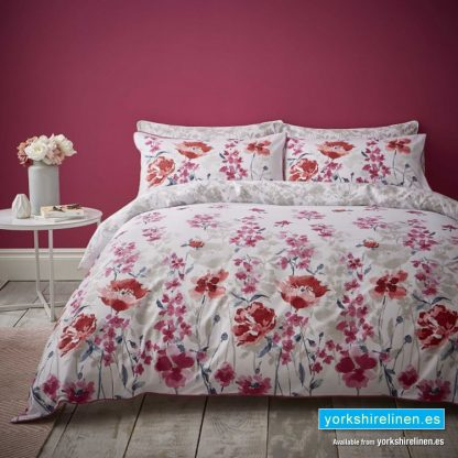 Catherine Lansfield Fox and Brooke Meadow Red Duvet Cover Set - Yorkshire Linen Warehouse Mijas Marbella