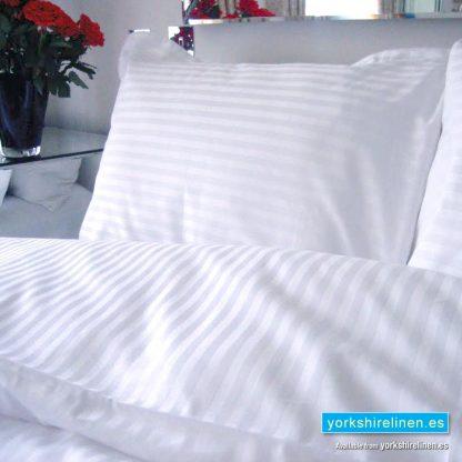 Luxury 220 Thread Count Sateen Stripe Flat Sheets - Yorkshire Linen Warehouse Mijas Marbella P02