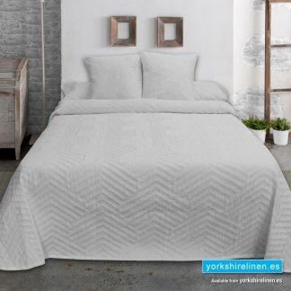 New Espiga Jacquard Bedspread, Grey - Yorkshire Linen Warehouse Mijas Marbella P02