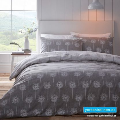Silhouette Grey Duvet Cover Set - Yorkshire Linen Warehouse Mijas Marbella