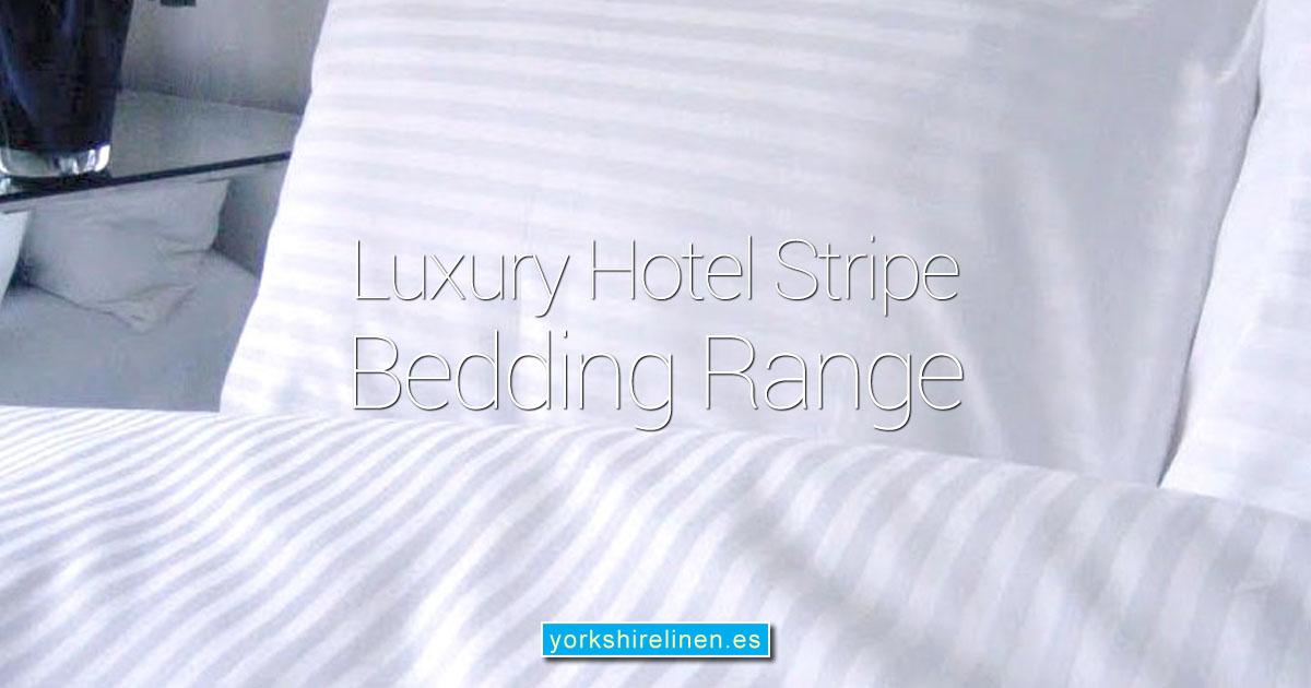 Luxury 220 Thread Count Sateen Stripe Extra Deep Bedding OG01