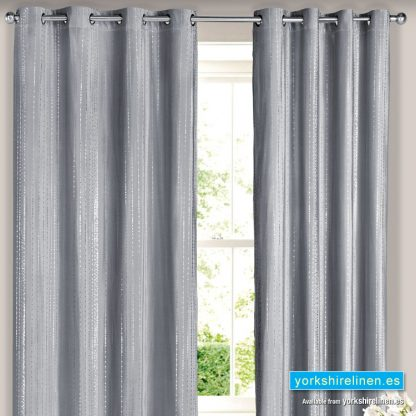 Silver Droplets Curtain Panel Yorkshire Linen Warehouse Mijas Marbella Spain P01