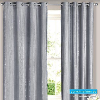 Silver Droplets Curtain Panel Yorkshire Linen Warehouse Mijas Marbella Spain P01