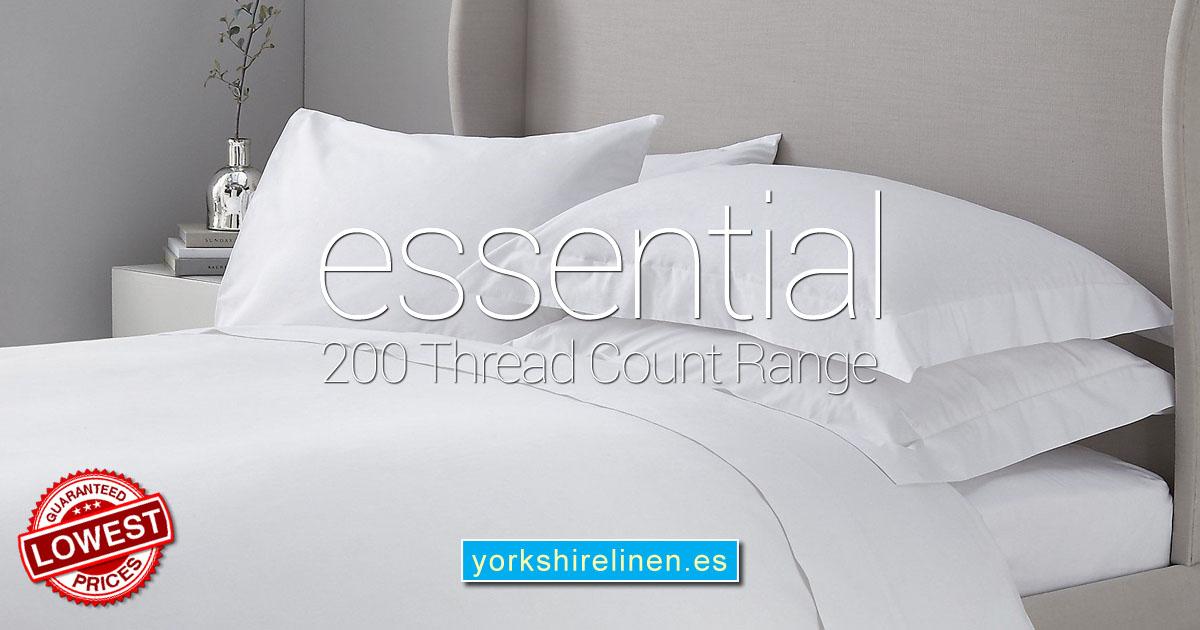 The Essential 200 Thread Count Range Yorkshire Linen Warehouse Mijas Marbella Spain OG02
