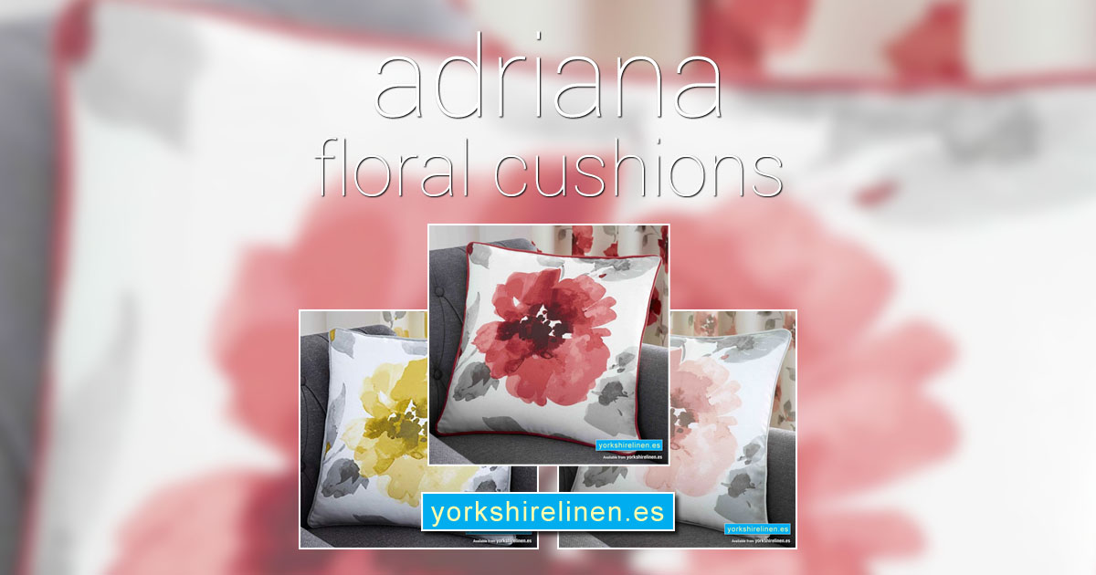 Adriana Floral Cushions Yorkshire Linen Warehouse Mijas Marbella Spain OG01