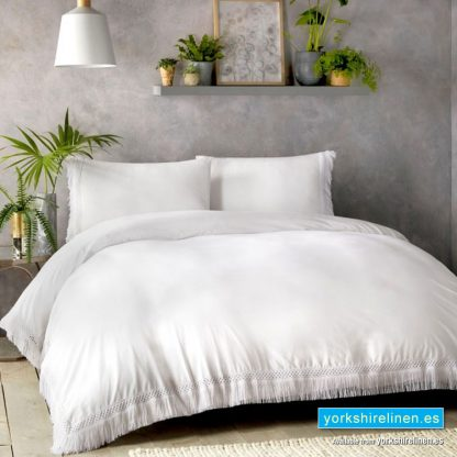 Appletree Tasha White Duvet Cover Set Yorkshire Linen Warehouse Mijas Marbella Spain P01