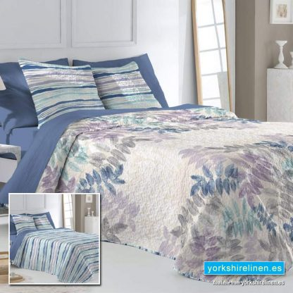 Barey Bedspread Blue Yorkshire Linen Warehouse Mijas Marbella Spain P01