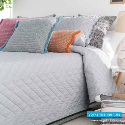 Belaya Tassel Bedspread Grey Yorkshire Linen Warehouse Mijas Marbella Spain P01