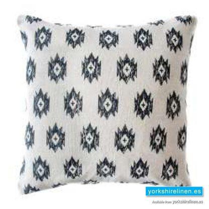 Bley Charcoal Cushion Cover Yorkshire Linen Warehouse Mijas Marbella Spain P01