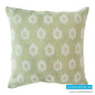 Bley Lime Cushion Cover Yorkshire Linen Warehouse Mijas Marbella Spain P01
