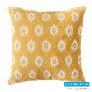 Bley Mustard Cushion Cover Yorkshire Linen Warehouse Mijas Marbella Spain P01