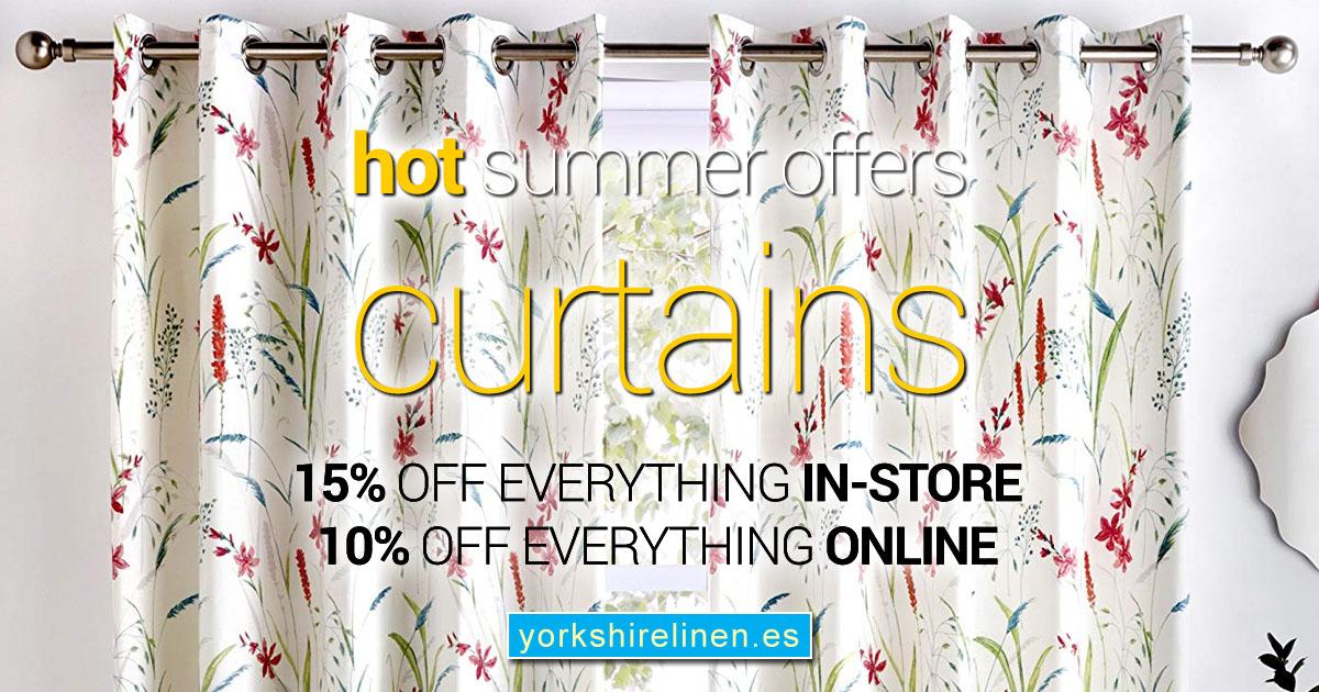 Hot Summer Offers Curtains Save Discount Yorkshire Linen Warehouse OG01