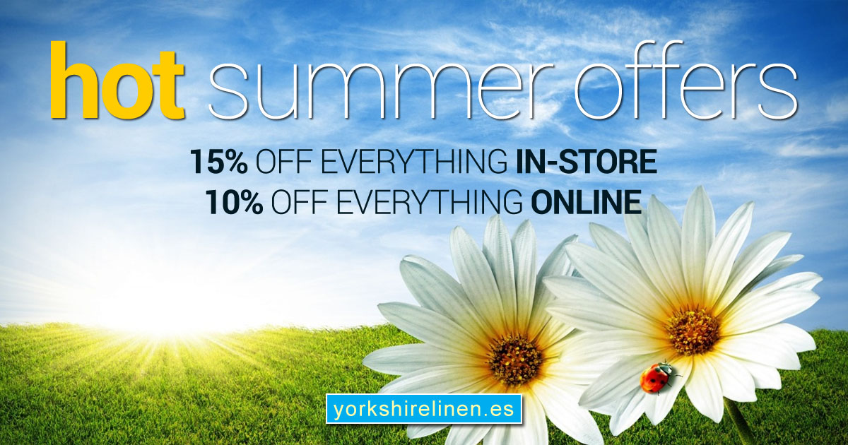 Hot Summer Offers from Yorkshire Linen