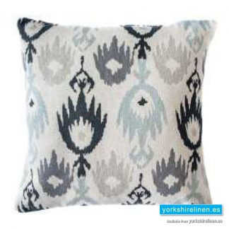 Jackson Charcoal Cushion Cover Yorkshire Linen Warehouse Mijas Marbella Spain P01