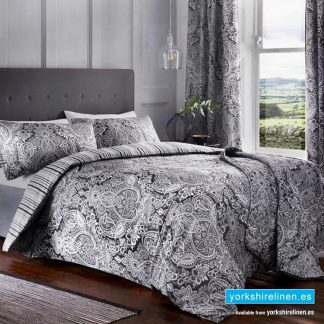 Maduri Duvet Cover Set Black Yorkshire Linen Warehouse Mijas Marbella Spain P01