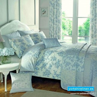 Malton Duvet Cover Set Blue Yorkshire Linen Warehouse Mijas Marbella Spain P01