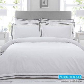 Sandringham 100% Cotton Pewter Duvet Cover Set Yorkshire Linen Warehouse Mijas Marbella Spain P01