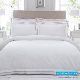 Sandringham 100% Cotton Taupe Duvet Cover Set Yorkshire Linen Warehouse Mijas Marbella Spain P01