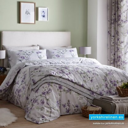 Suki Lilac Grey Duvet Cover Set Yorkshire Linen Warehouse Mijas Marbella Spain P01