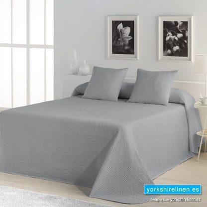 Banus Bedspread Grey Yorkshire Linen Warehouse Mijas Marbella Spain P01