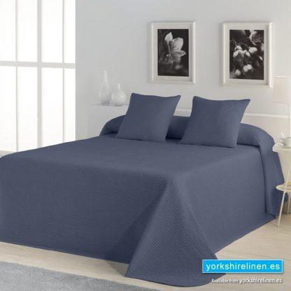 Banus Bedspread Navy Blue Yorkshire Linen Warehouse Mijas Marbella Spain P01