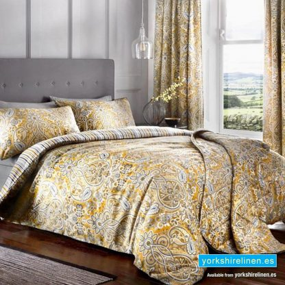 Maduri Ochre Duvet Cover Set Yorkshire Linen Warehouse Mijas Marbella Spain P01