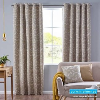 Pippa Ochre Ring Top Curtains Yorkshire Linen Warehouse Mijas Marbella Spain P01