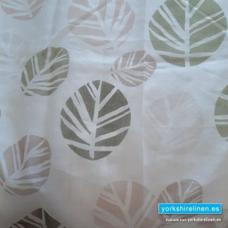 Scandi Leaf Green Curtain Panel Yorkshire Linen Warehouse Mijas Marbella Spain P01