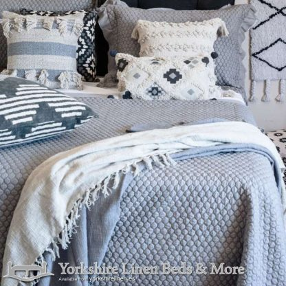 Asher Bedspread Duck Egg Blue Yorkshire Linen Warehouse Beds & More Mijas Marbella Spain P01