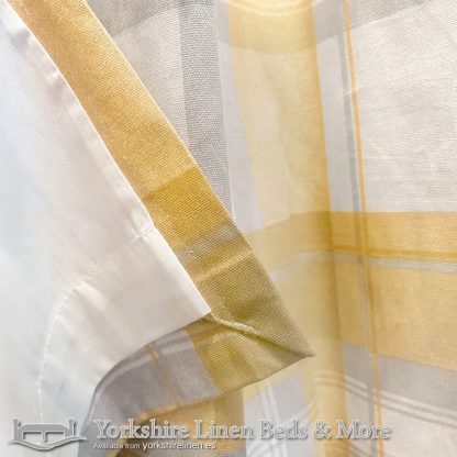 Balmoral Ochre Ring Top Curtains Yorkshire Linen Warehouse Beds & More Mijas Marbella Spain P03