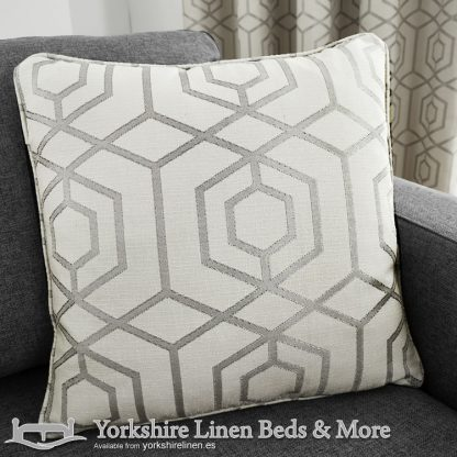 Camberwell Cushion Cover Silver Yorkshire Linen Warehouse Beds & More Mijas Marbella Spain P01