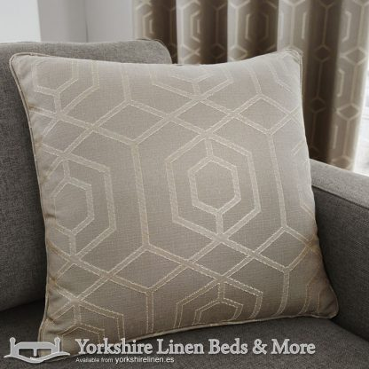 Camberwell Cushion Cover Stone Yorkshire Linen Warehouse Beds & More Mijas Marbella Spain P01