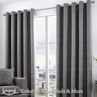Camberwell Ring Top Curtains Graphite Yorkshire Linen Warehouse Beds & More Mijas Marbella Spain P01