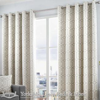 Camberwell Ring Top Curtains Silver Yorkshire Linen Warehouse Beds & More Mijas Marbella Spain P01