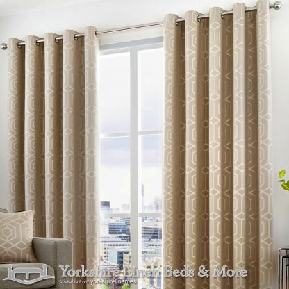 Camberwell Ring Top Curtains Stone Yorkshire Linen Warehouse Beds & More Mijas Marbella Spain P01