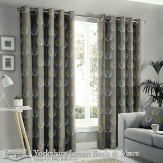 Delta Ring Top Curtains Grey Yorkshire Linen Warehouse Beds & More Mijas Marbella Spain P01
