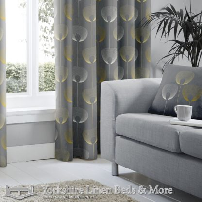 Delta Ring Top Curtains Grey Yorkshire Linen Warehouse Beds & More Mijas Marbella Spain P02