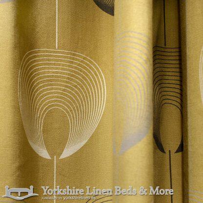 Delta Ring Top Curtains Ochre Yorkshire Linen Warehouse Beds & More Mijas Marbella Spain P03