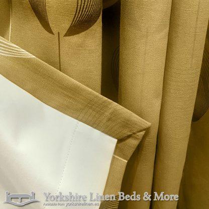 Delta Ring Top Curtains Ochre Yorkshire Linen Warehouse Beds & More Mijas Marbella Spain P04