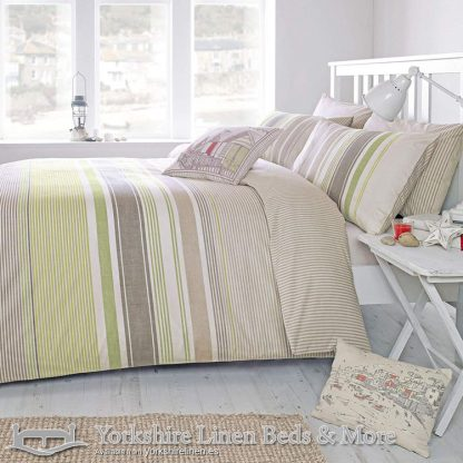 Falmouth Green Duvet Cover Set Yorkshire Linen Warehouse Mijas Marbella Spain P01