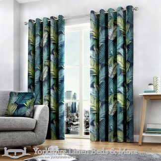 Tropical Ring Top Curtains Multi Yorkshire Linen Warehouse Beds & More Mijas Marbella Spain P01