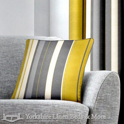 Whitworth Stripe Cushion Cover Ochre Yorkshire Linen Warehouse Beds & More Mijas Marbella Spain P01