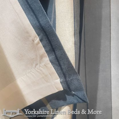 Whitworth Stripe Ring Top Curtains Blue Yorkshire Linen Warehouse Beds & More Mijas Marbella Spain P02