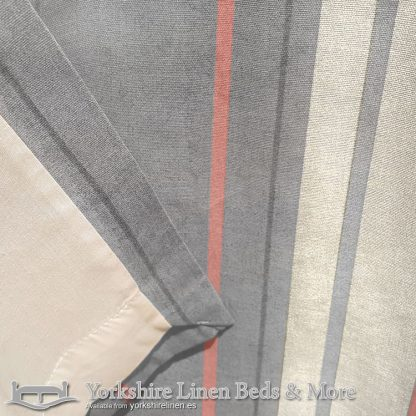 Whitworth Stripe Ring Top Curtains Blush Yorkshire Linen Warehouse Beds & More Mijas Marbella Spain P03